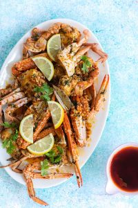 crab with spicy garlic butter sauce
